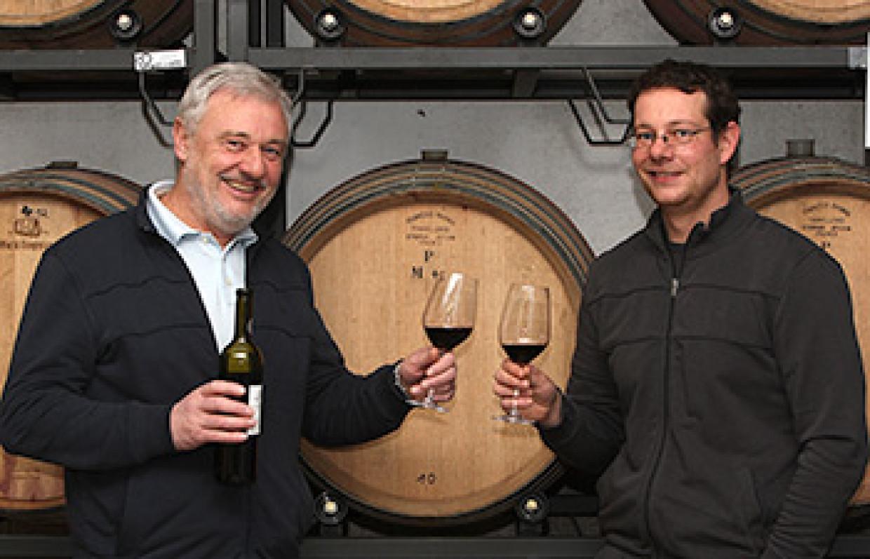 Otto und Steffen Pfaffmann vom Weingut Pfaffmann